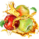 Apple Splashes Juice - GraphicRiver Item for Sale