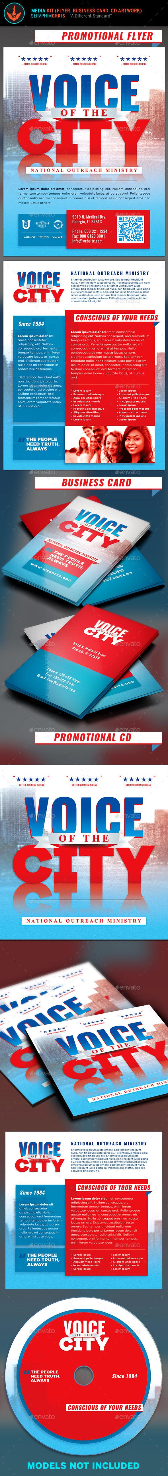 Voice of The City Church Charity Media Kit - Church Flyers
