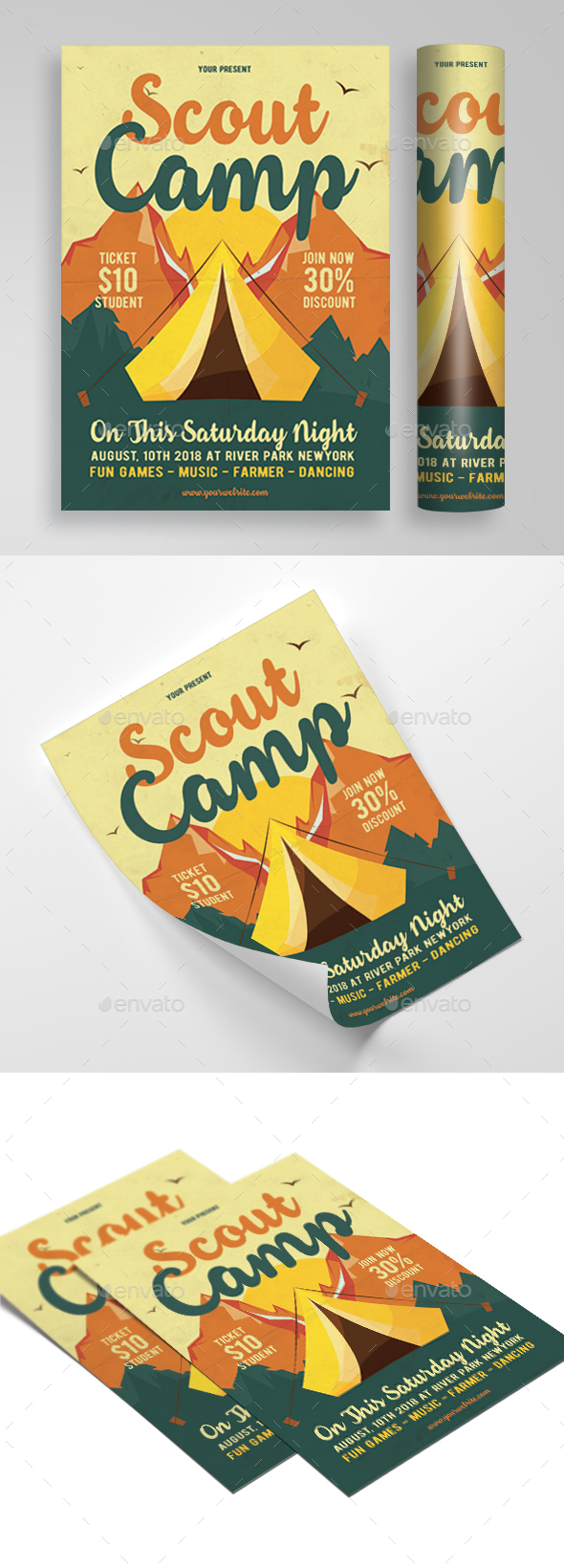 scout camp flyer - Events Flyers