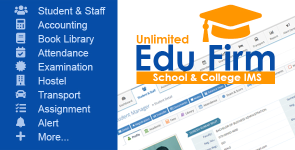 Unlimited Edu Firm School & College Information Management System            Nulled