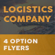 Logistics Company Flyers – 4 Options - GraphicRiver Item for Sale