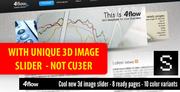 Free Download 4flow - with unique 3D image slider Nulled Latest Version