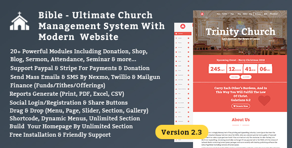 Bible - Church Management System With Shop, Donation & Attendance - CodeCanyon Item for Sale
