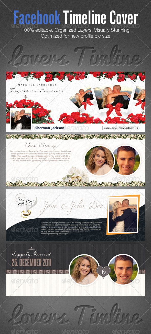 Lovers Facebook Timeline Cover PSD Template - Facebook Timeline Covers Social Media