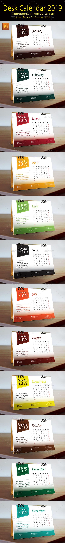 2019 Desk Calendar - Calendars Stationery