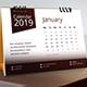 2019 Desk Calendar - GraphicRiver Item for Sale