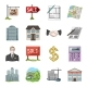 Realtor Agency Cartoon Icons