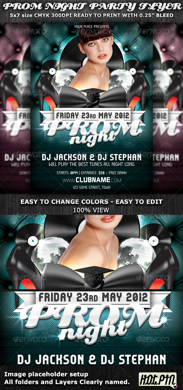Prom Night Party Flyer Template - Clubs & Parties Events