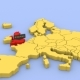 Map of Europe, Focused on England - VideoHive Item for Sale