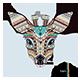 Patterned Head of Deer