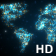 World Map Digital Rectangle Particles - VideoHive Item for Sale