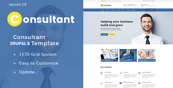 Consultant - Multipurpose Corporate Drupal 8.5 Template - Drupal CMS Themes