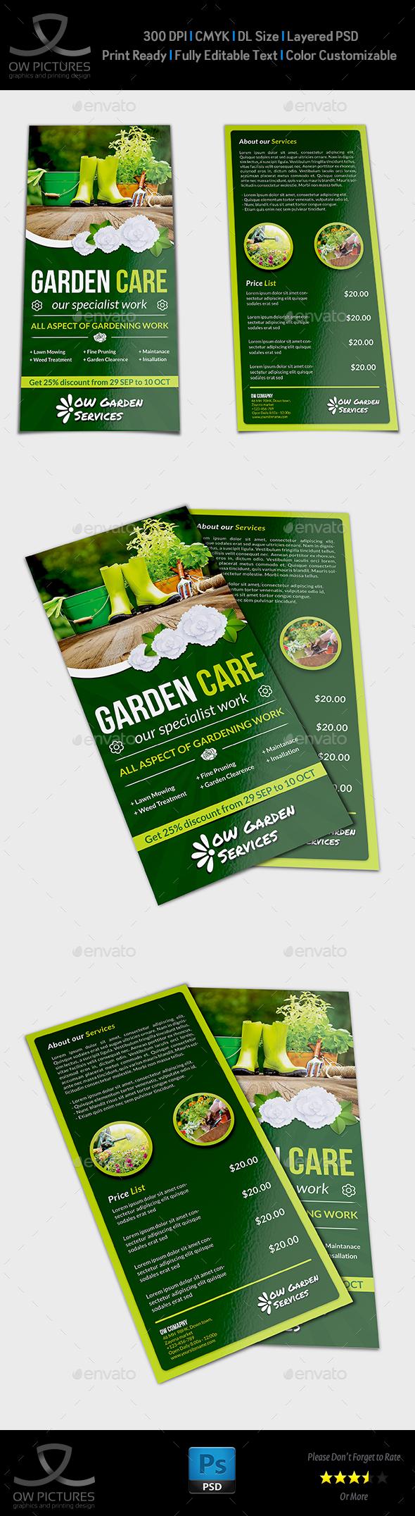 Garden Services Flyer Template DL Size Vol.2 - Flyers Print Templates