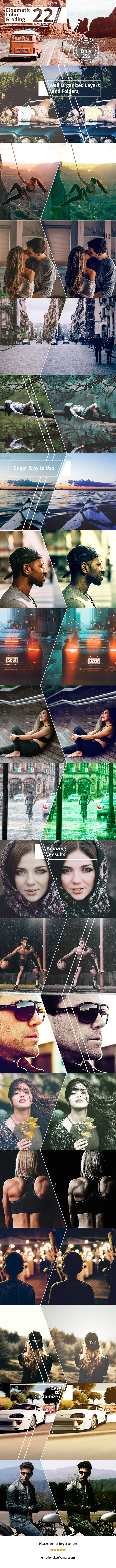Neo Cinematic Color Grading Photoshop Action - Photo Effects Actions