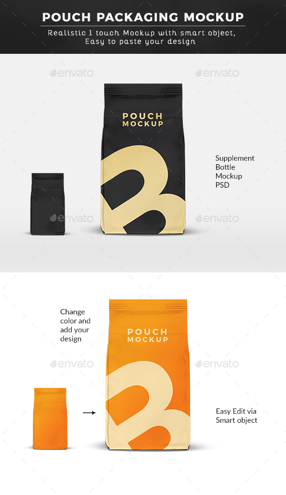 Pouch Packaging Mock up
