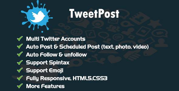 TweetPost - Twitter Scheduling Tools            Nulled