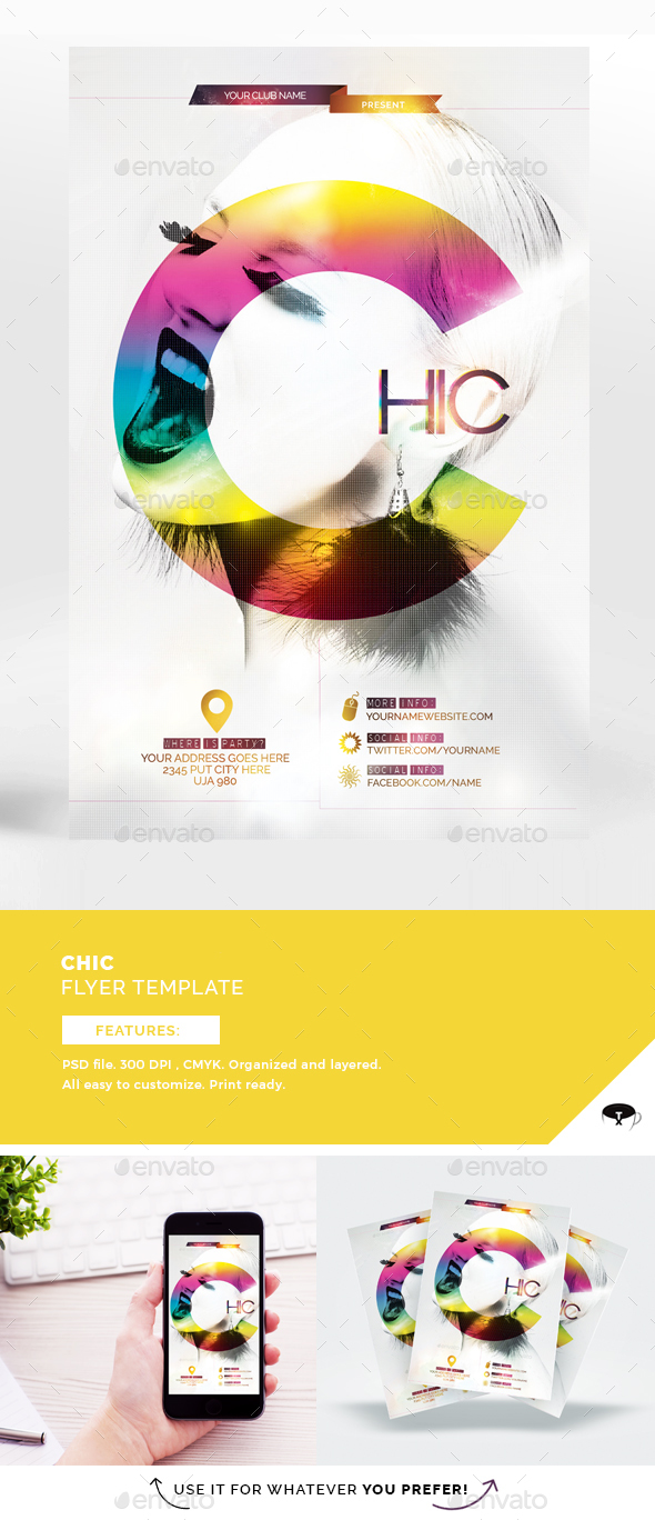 Chic Flyer Template - Flyers Print Templates