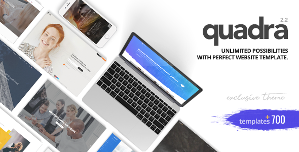Quadra - Creative Multi-Purpose Template - Corporate Site Templates