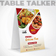 Restaurant Table Talker - GraphicRiver Item for Sale