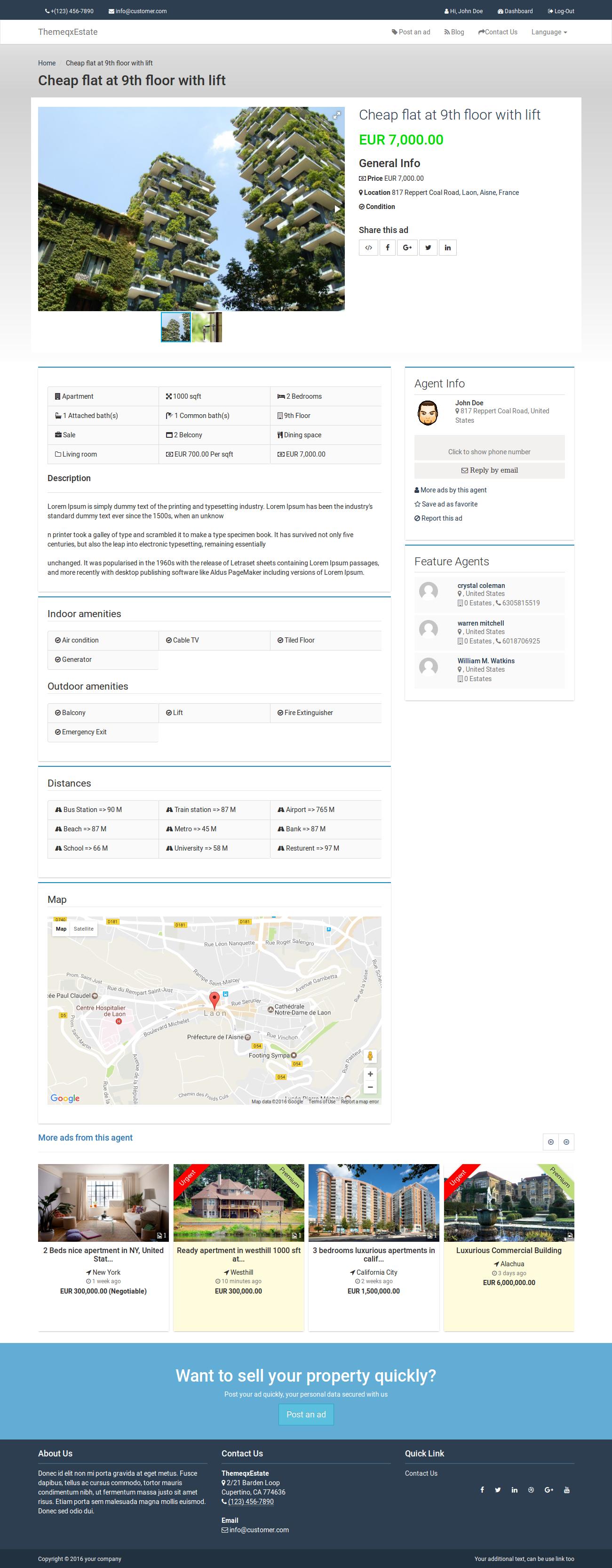 themeqxestate laravel real estate property listing portal by themeqx