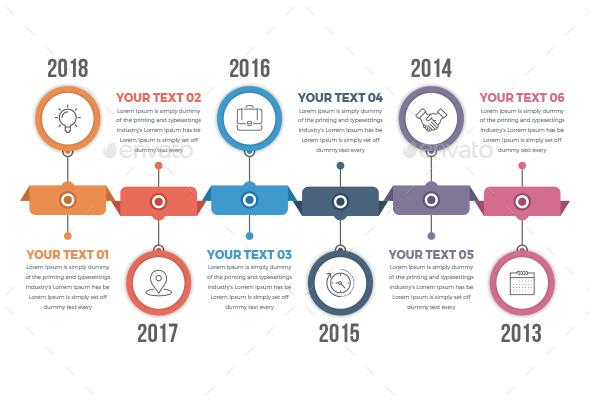 Horizontal Timeline Infographics - Infographics