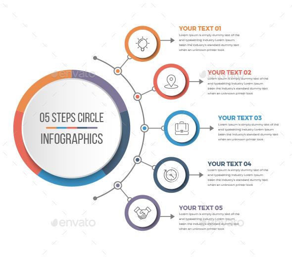 Simple Circle Infographics - Infographics