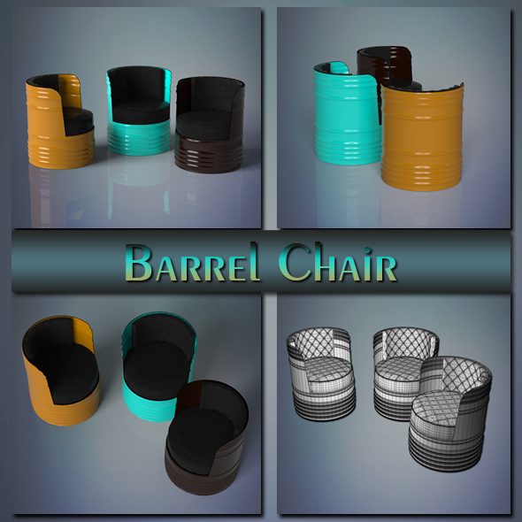 Barrel Chair - 3DOcean Item for Sale