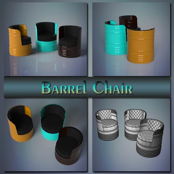 Barrel Chair - 3DOcean Item for Sale
