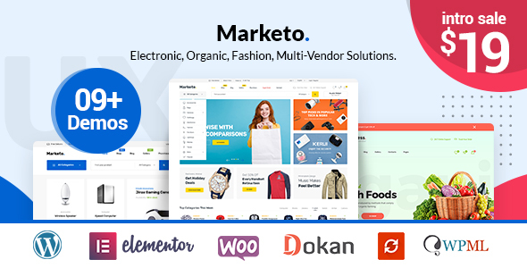 Marketo v1.9.4 - ECommerce & Multivendor A Woocommerce WordPress Theme