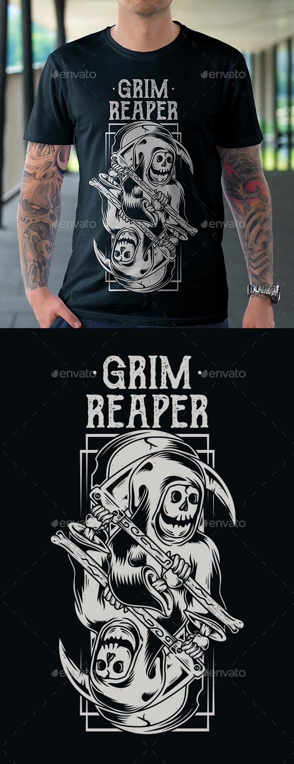 Grim Reaper T-shirt - Grunge Designs