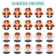 Set of Isolated Cartoon People Head with Emotions - GraphicRiver Item for Sale