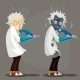 Mad Scientist Professor in Lab Coat - GraphicRiver Item for Sale