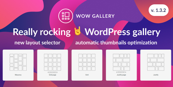 WOW Gallery - Magic WordPress Gallery - CodeCanyon Item for Sale