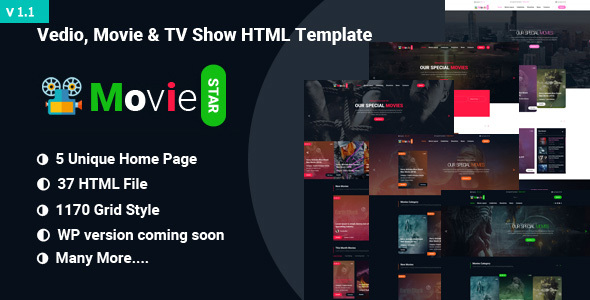 Movie,Video & TV Show HTML Template