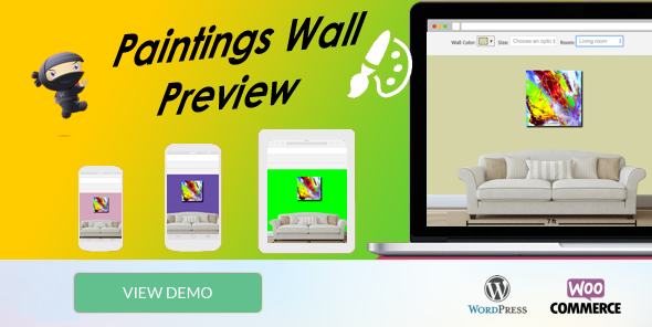 WooCommerce Paintings Wall Preview - Popup -            Nulled