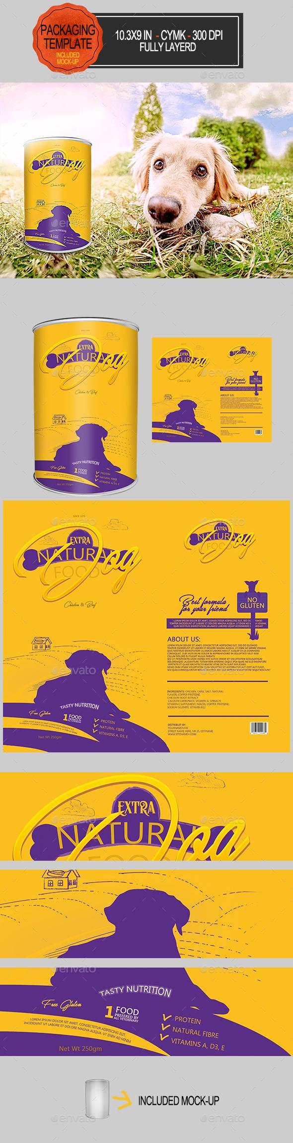 Dog Food Packaging - Packaging Print Templates
