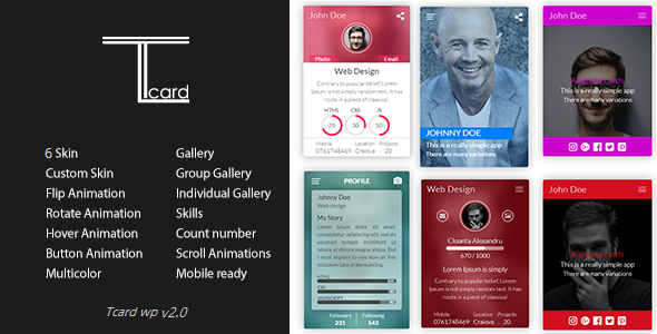 Tcard WP - Simple Plugin for Creating Cards            Nulled