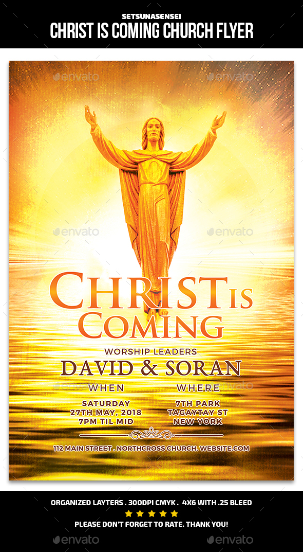 Christ is Coming Church Flyer - Church Flyers