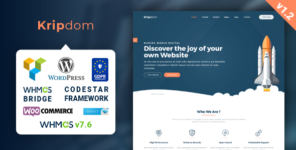 Image of Kripdom - Responsive Web Hosting and WHMCS Themes