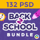Back to School Web Banner Set Bundle - 8 Sets - 132 Banners