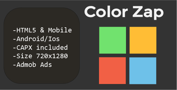 Color Zap (HTML5 + Mobile Version) Construct 2            Nulled