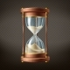 Vector Realistic Hourglass with Running Sand - GraphicRiver Item for Sale