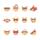 Cartoon Cat Set Icons - GraphicRiver Item for Sale