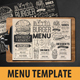 Burger Menu Template - GraphicRiver Item for Sale
