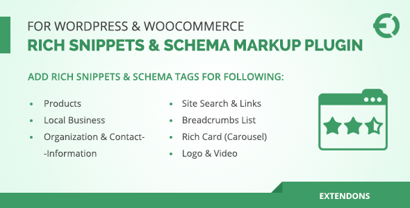 Rich Snippets & Schema Markup Plugin for WordPress & WooCommerce - CodeCanyon Item for Sale