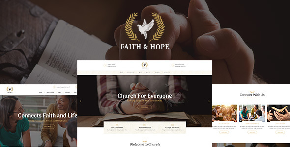 Faith & Hope | A Modern Church & Religion WordPress Theme - Churches Nonprofit