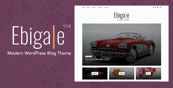 Image of Ebigale -  Modern WordPress Blog Theme