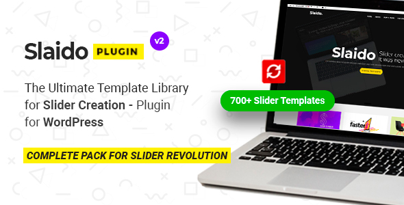 Slaido - Template Pack for Slider Revolution WordPress Plugin            Nulled