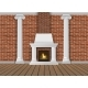 Classic Interior Wall with Fireplace - GraphicRiver Item for Sale