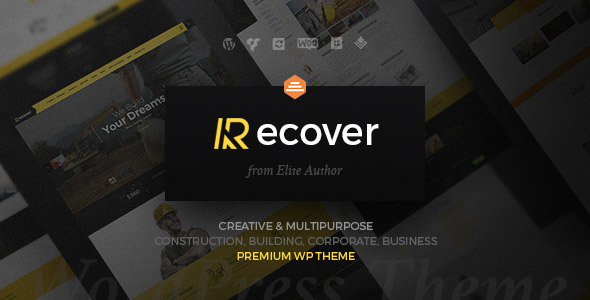 Construction Building Business WordPress Theme - Recover - Business Corporate